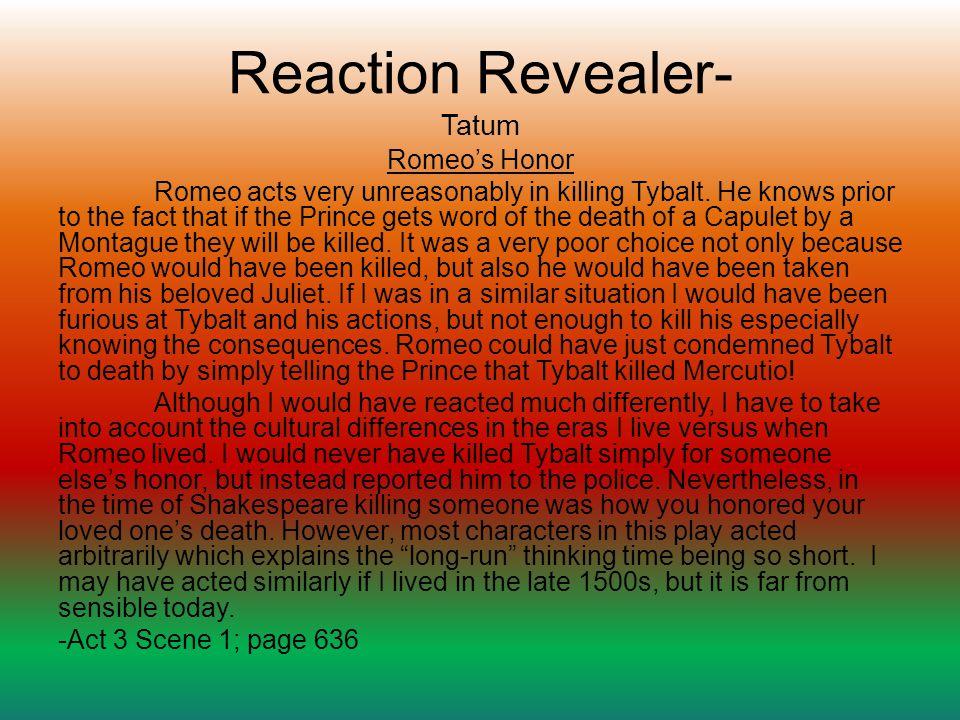 Reaction Revealer- Tatum