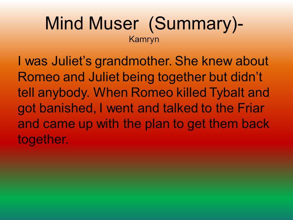 Mind Muser (Summary)- Kamryn