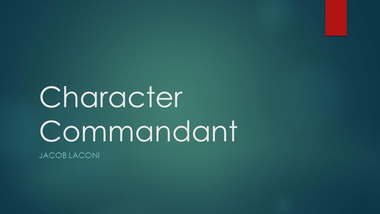 Character Commandant Jacob Laconi