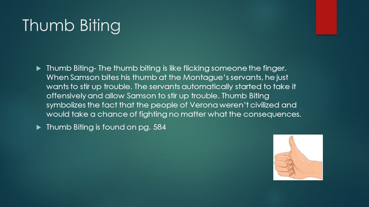 Thumb Biting