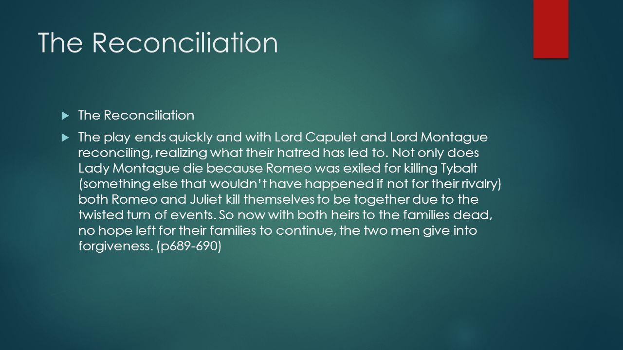 The Reconciliation The Reconciliation