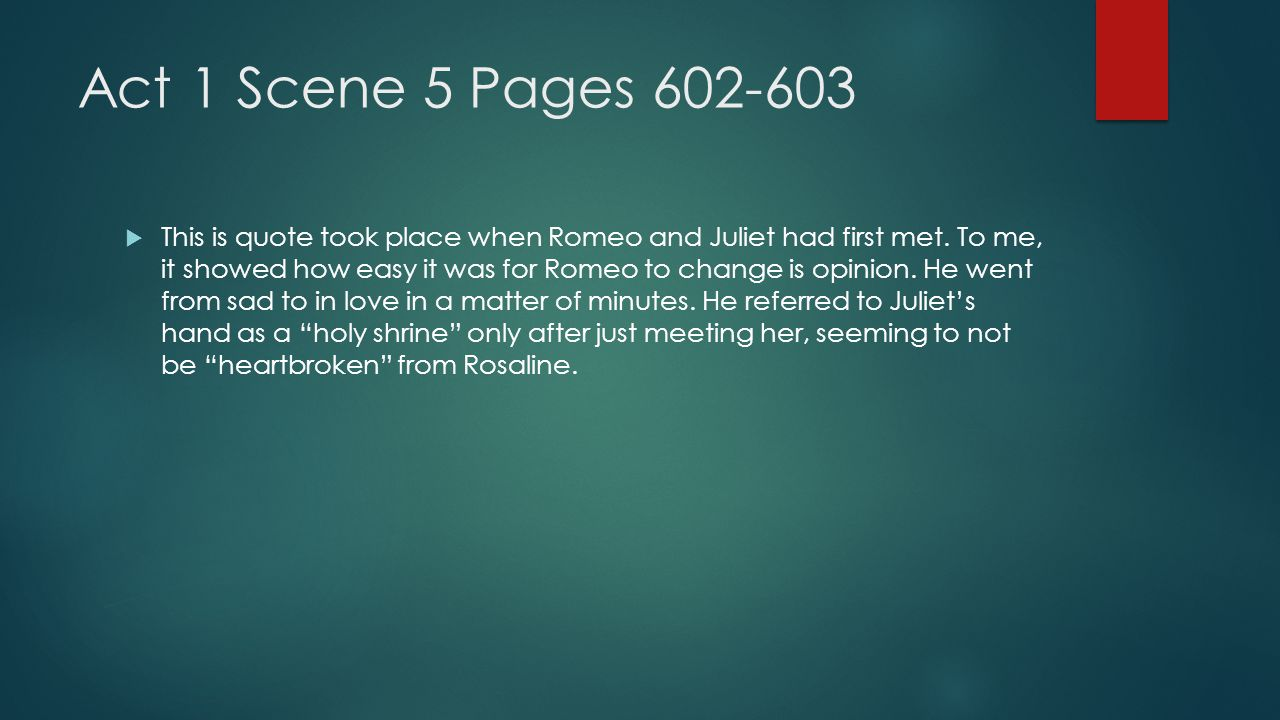 Act 1 Scene 5 Pages 602-603