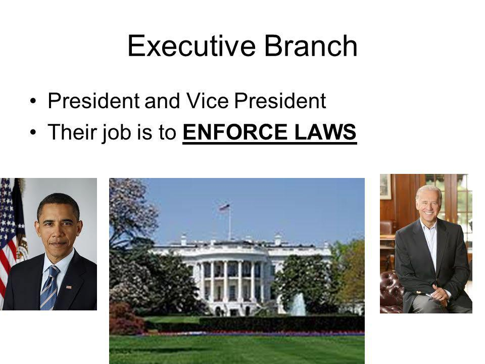 Executive Branch President and Vice President