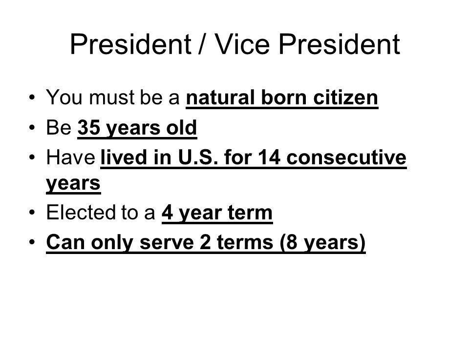 President / Vice President