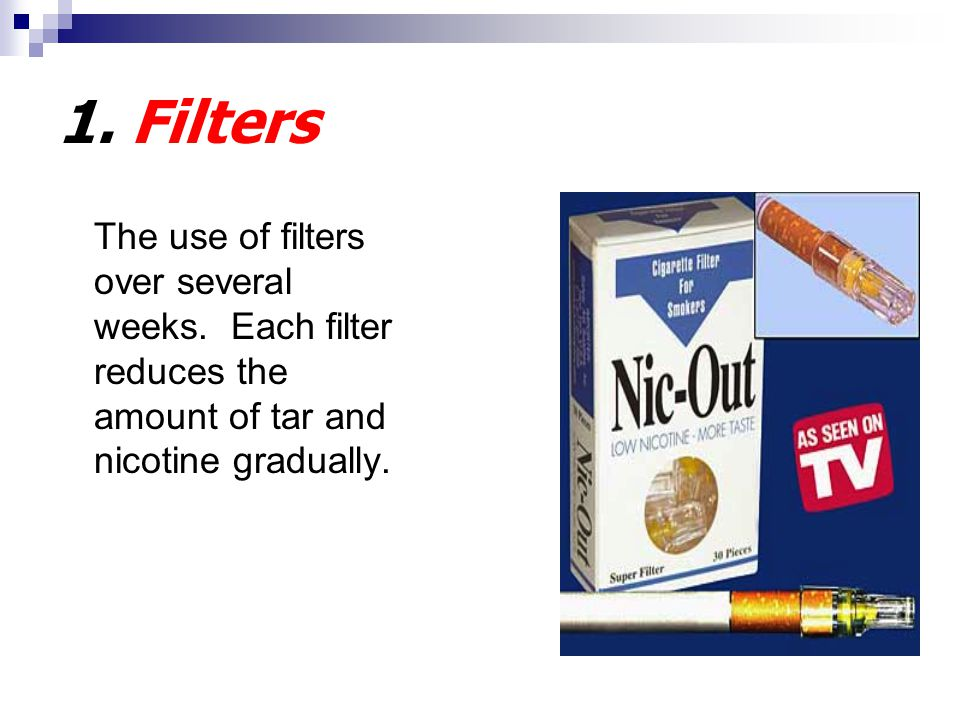1. Filters The use of filters over several weeks.
