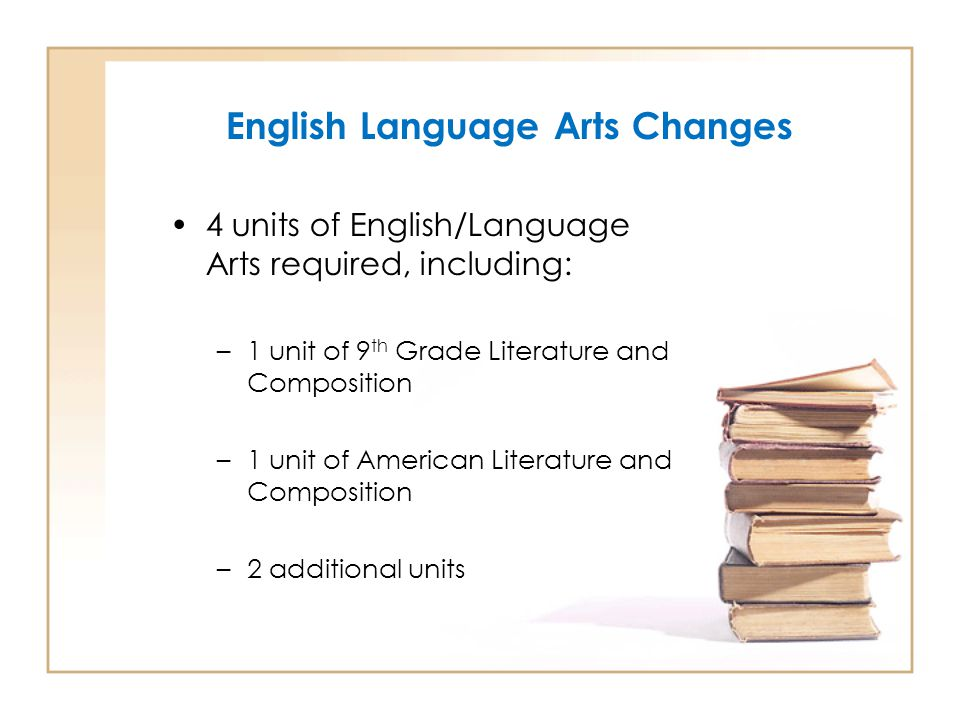 English Language Arts Changes