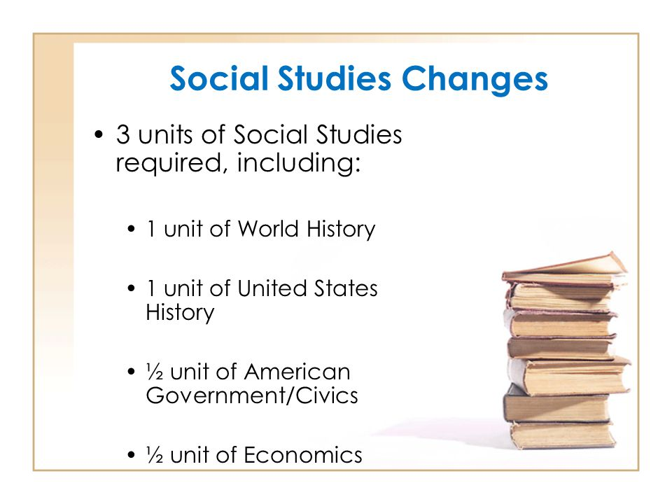 Social Studies Changes