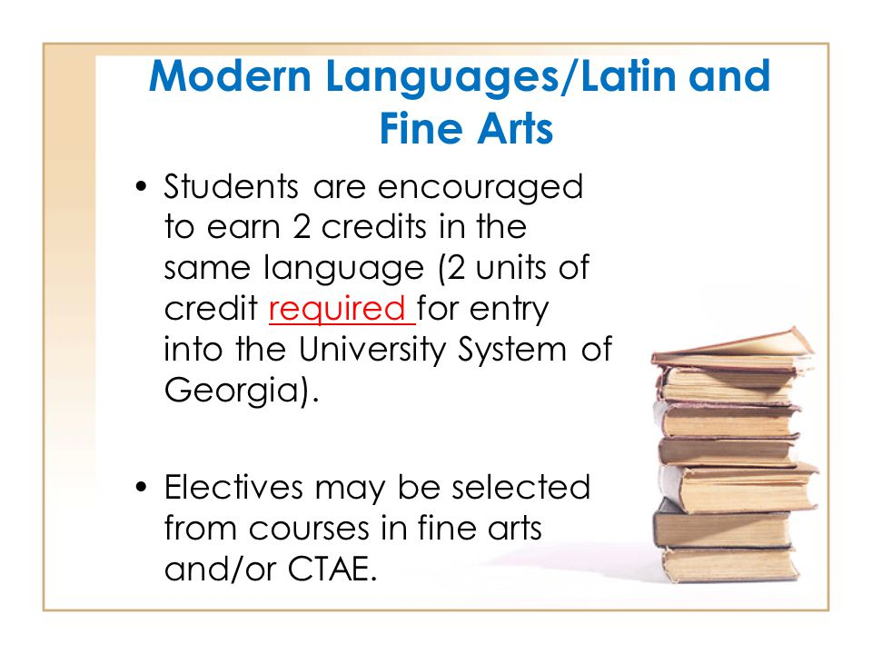 Modern Languages/Latin and Fine Arts
