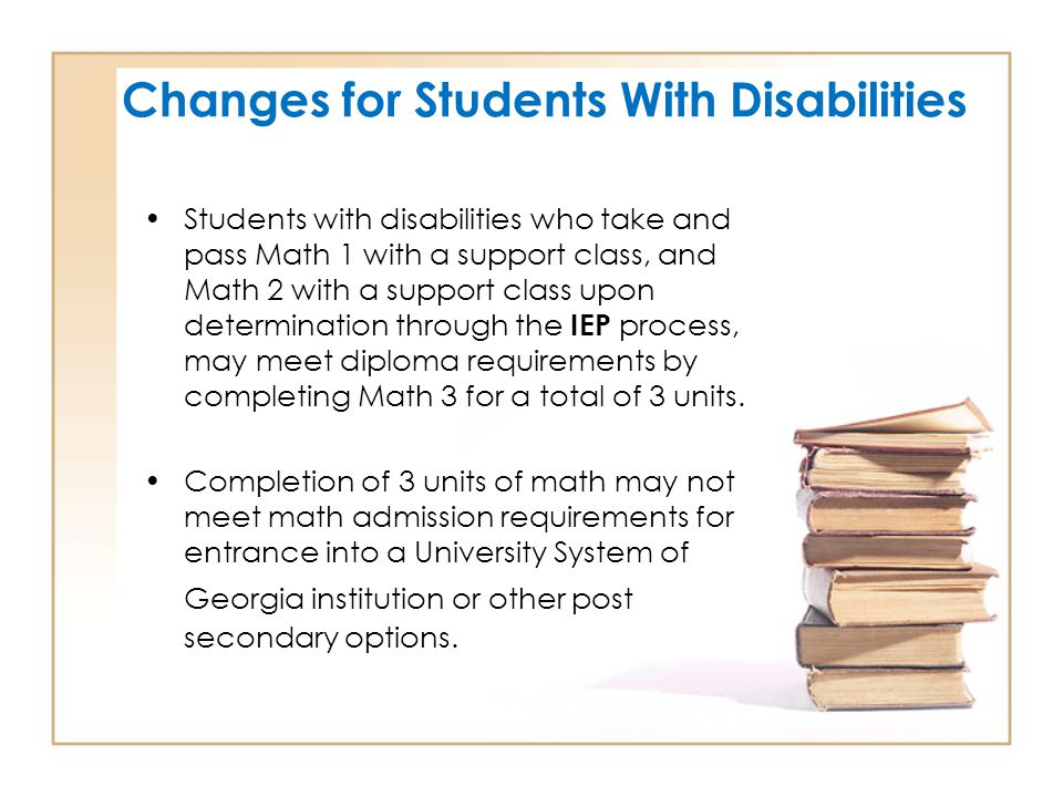 Changes for Students With Disabilities