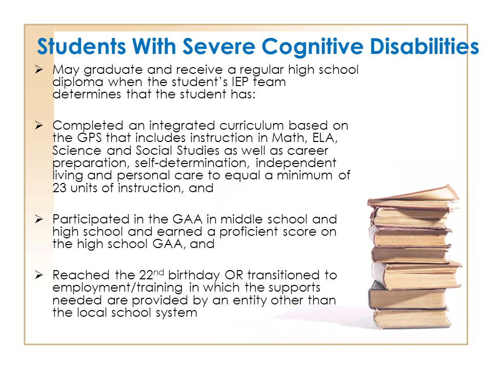 Students With Severe Cognitive Disabilities