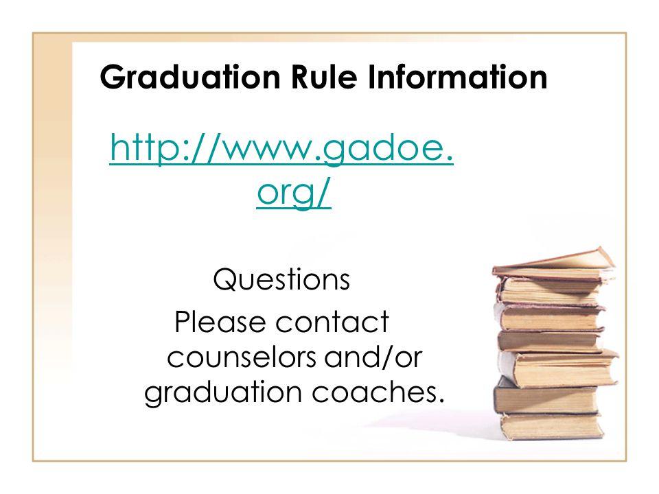 Graduation Rule Information