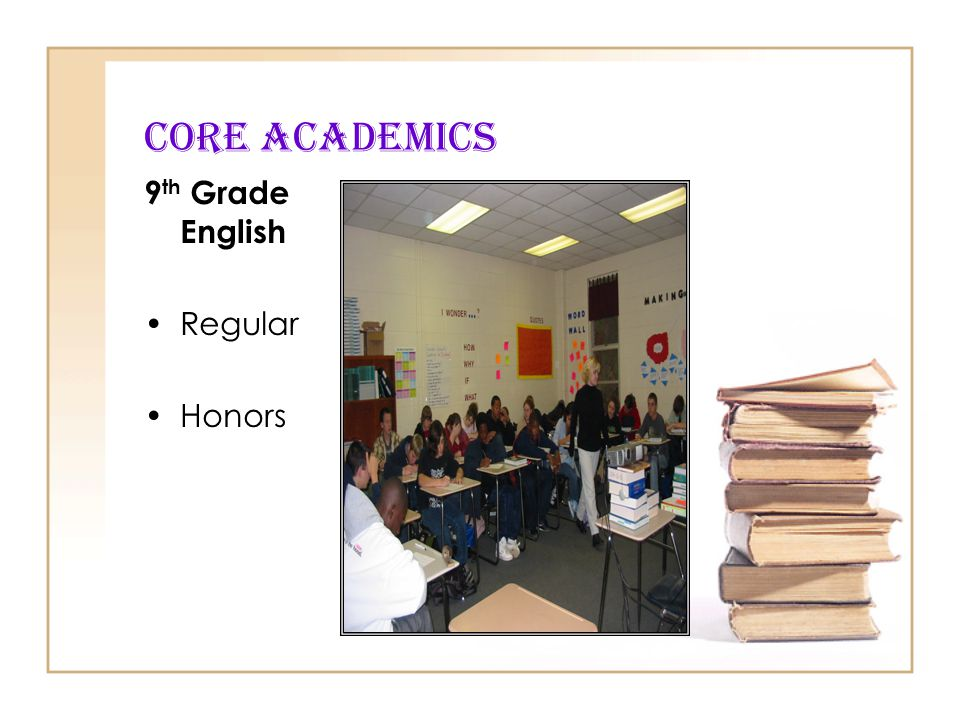 CORE Academics 9th Grade English Regular Honors