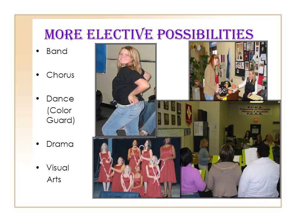 More Elective Possibilities