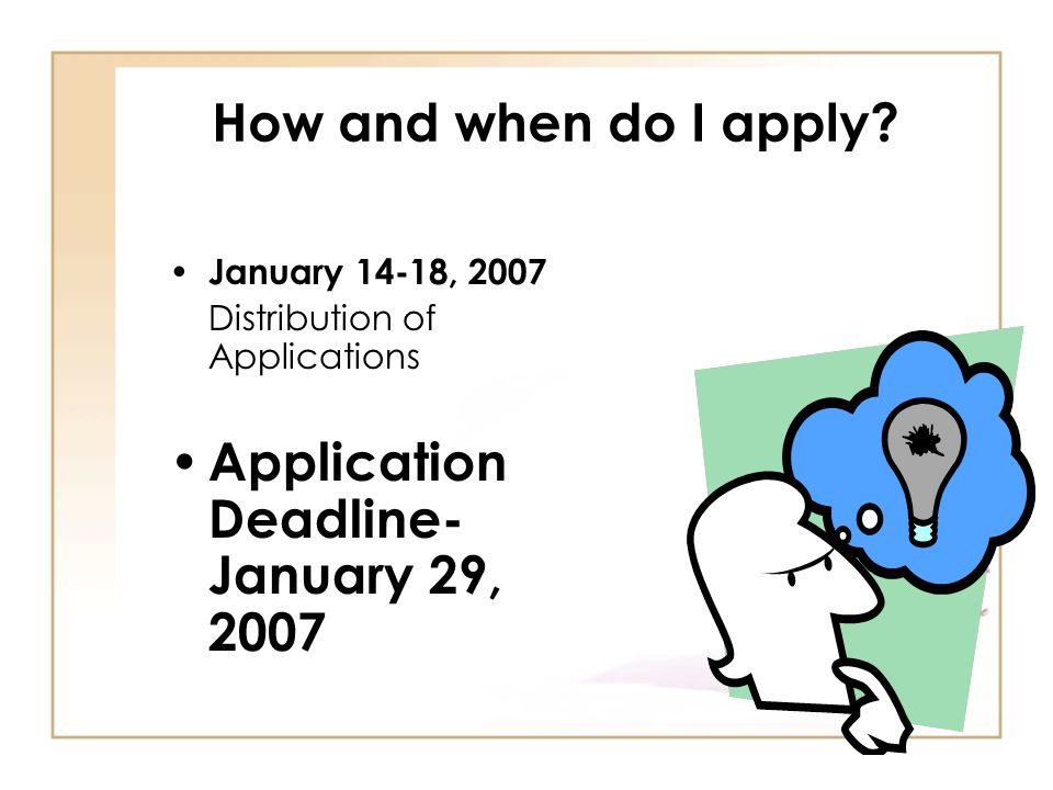 Application Deadline- January 29, 2007