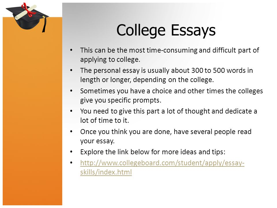 college essay length