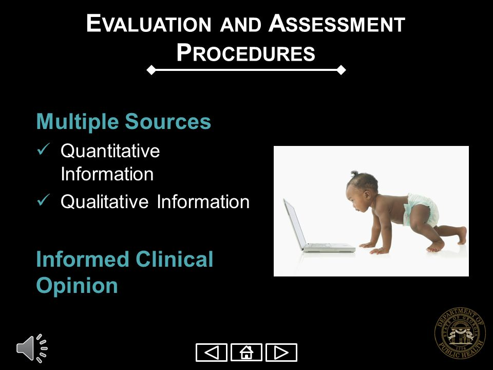 Evaluation and Assessment Procedures