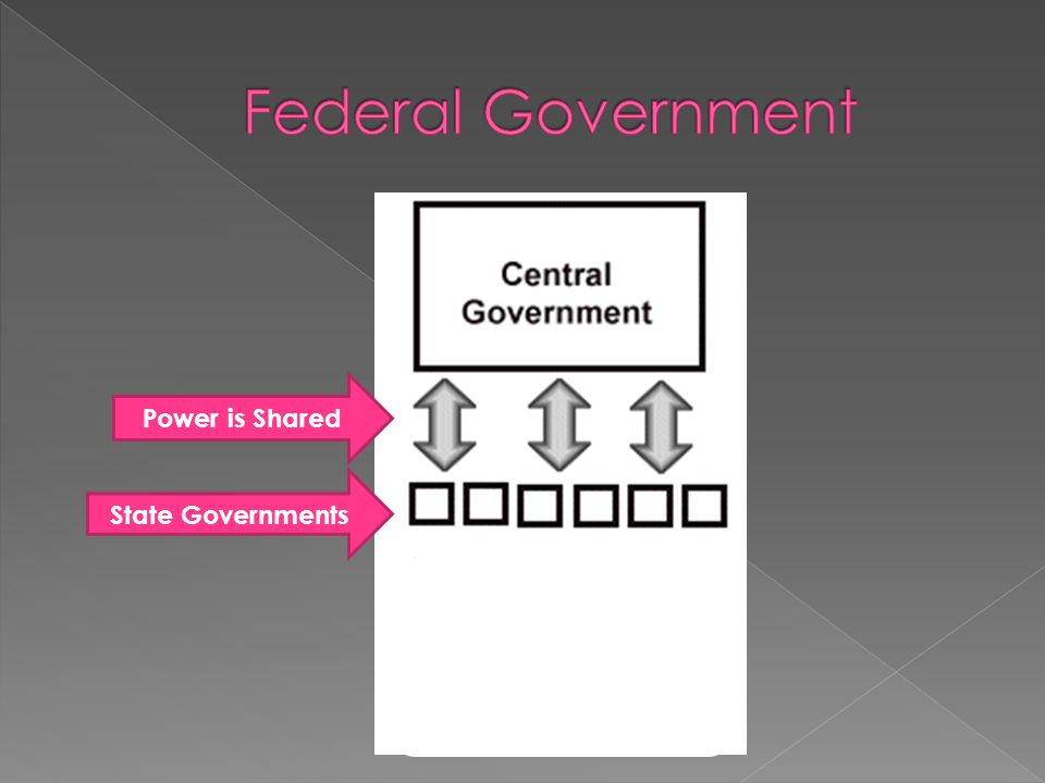 Federal Government Power is Shared State Governments