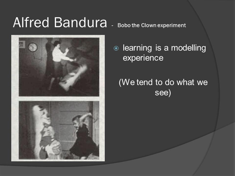 Alfred Bandura - Bobo the Clown experiment