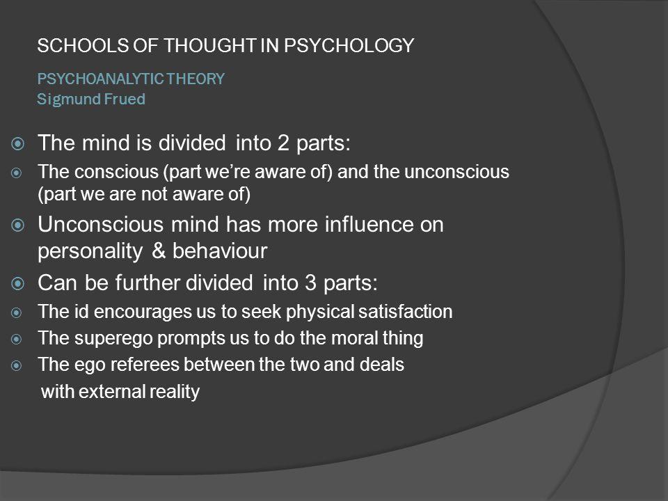PSYCHOANALYTIC THEORY Sigmund Frued