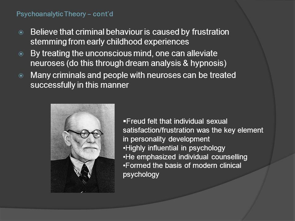 Psychoanalytic Theory – cont'd