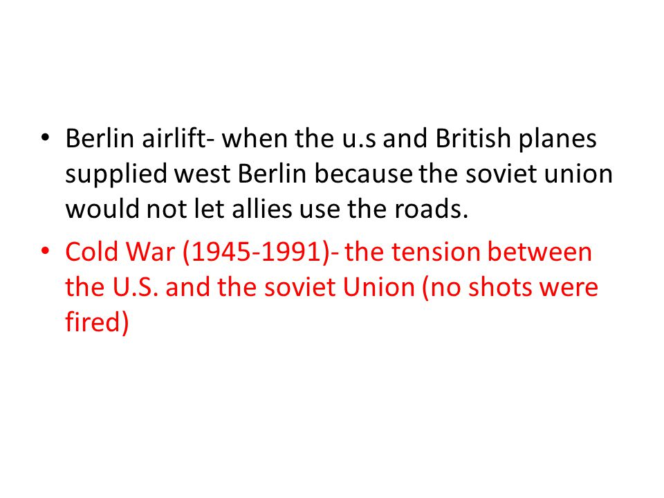 Berlin airlift- when the u