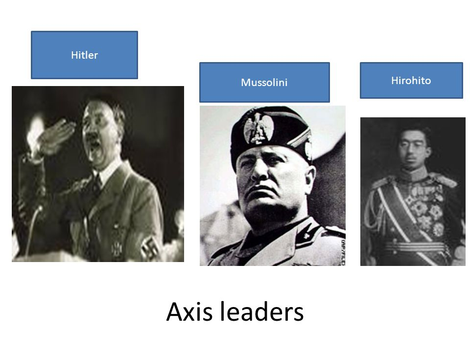 Hitler Mussolini Hirohito Axis leaders