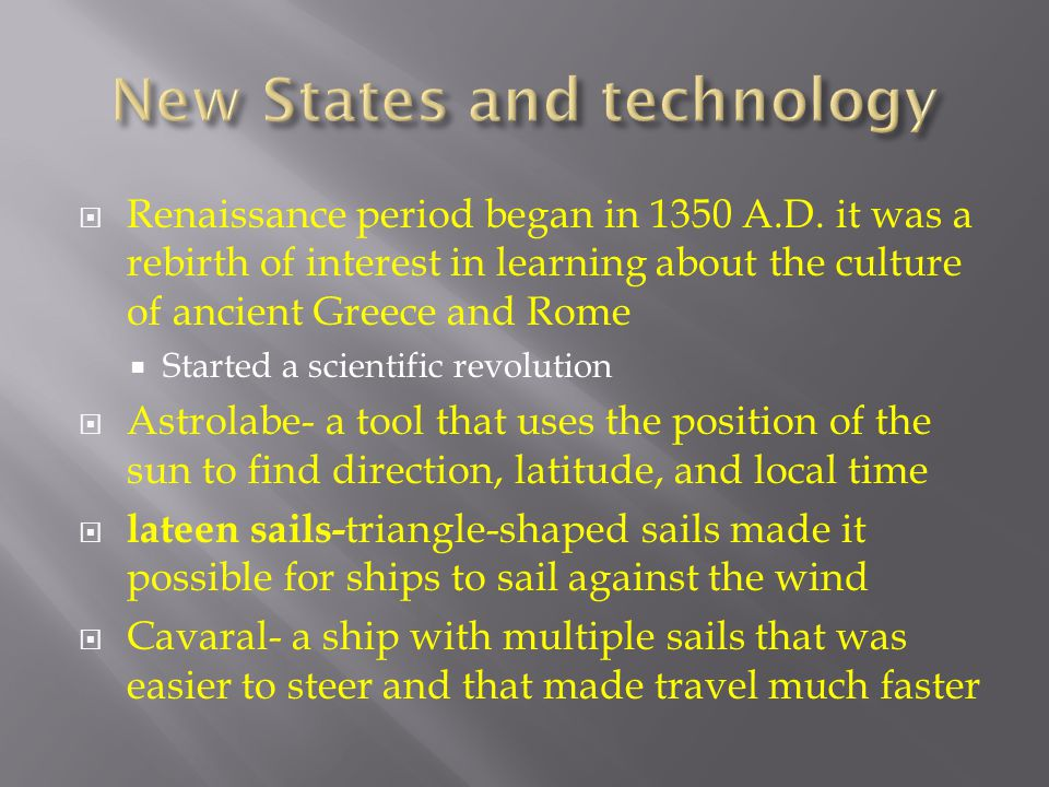 New States and technology