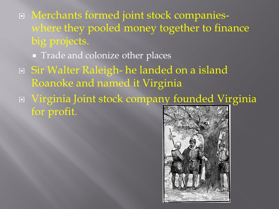 Virginia Joint stock company founded Virginia for profit.