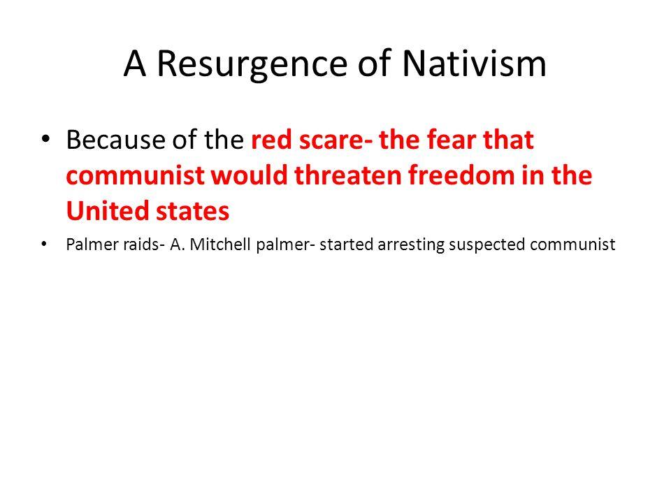 A Resurgence of Nativism