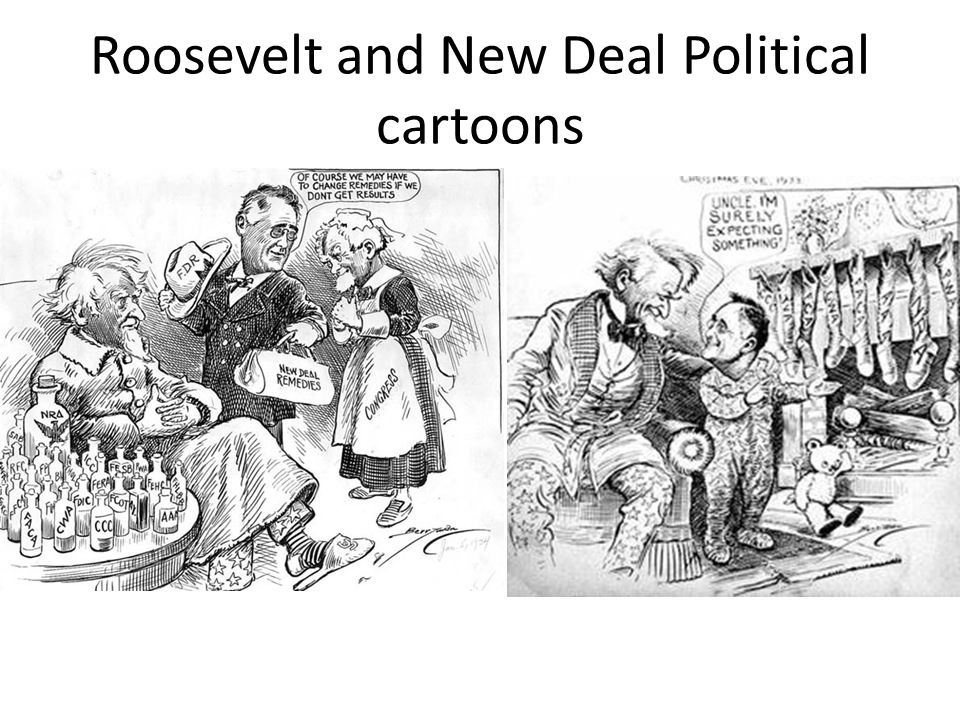 Roosevelt and New Deal Political cartoons