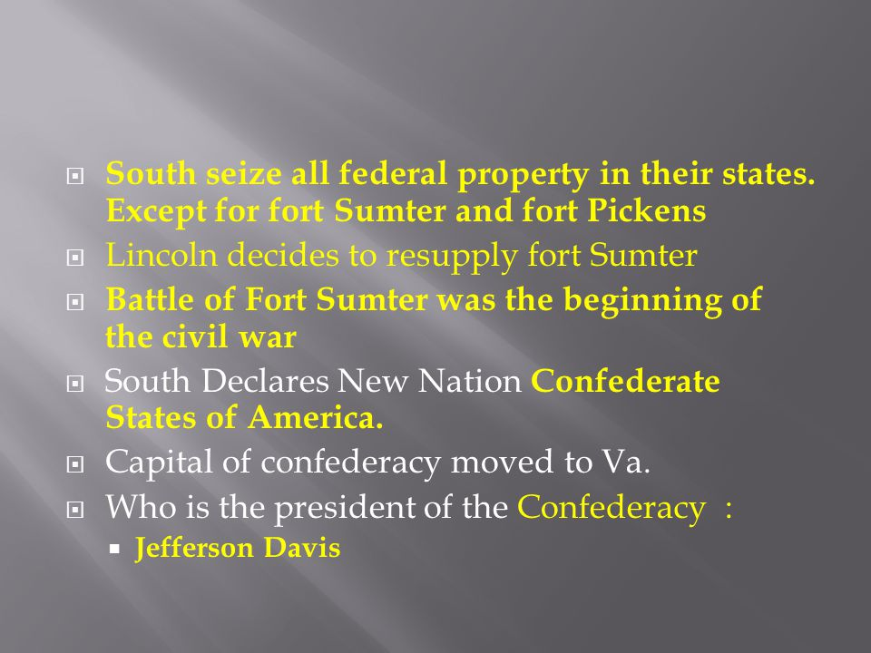 Lincoln decides to resupply fort Sumter