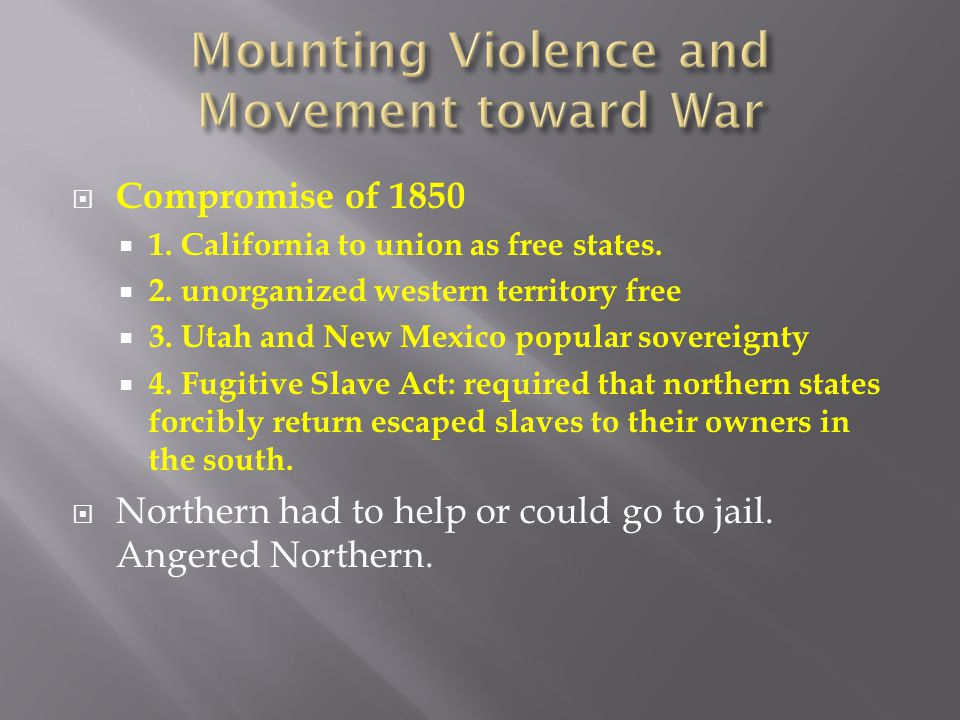 Mounting Violence and Movement toward War