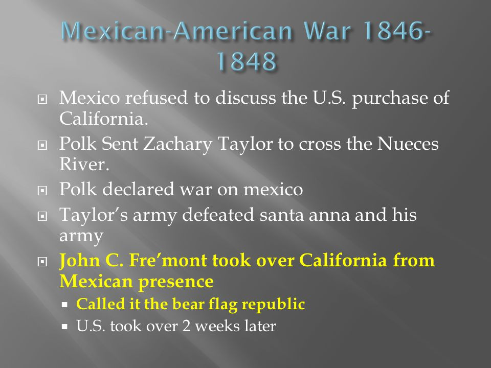Mexican-American War 1846-1848
