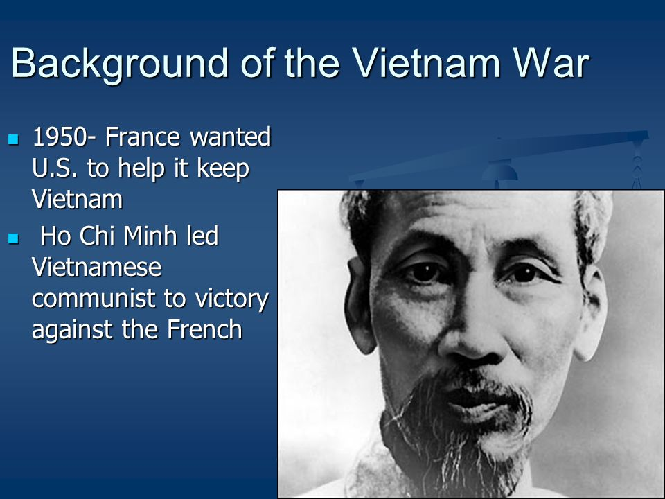 Background of the Vietnam War