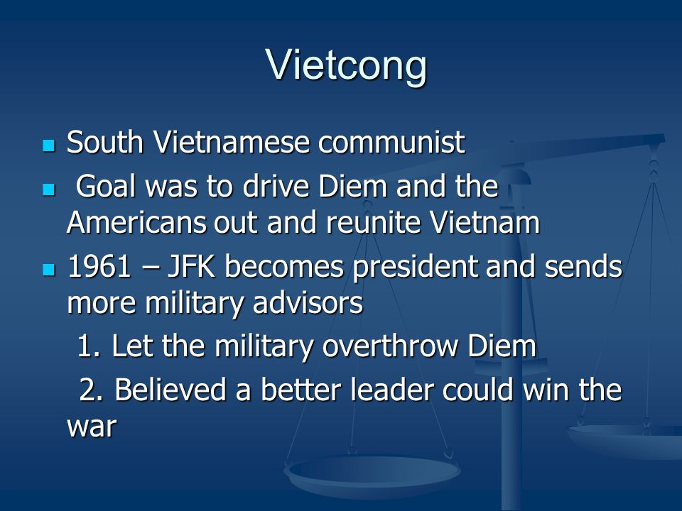 Vietcong South Vietnamese communist