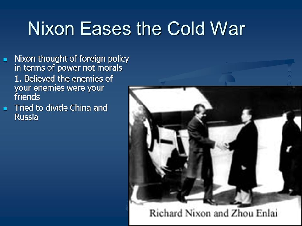 Nixon Eases the Cold War