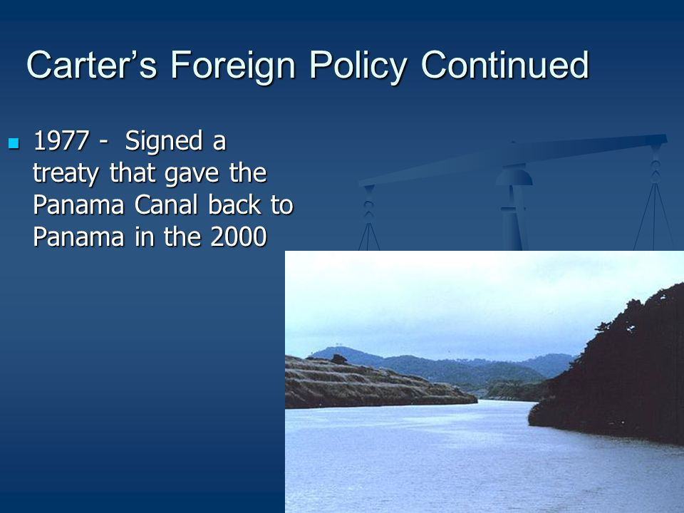 Carter's Foreign Policy Continued