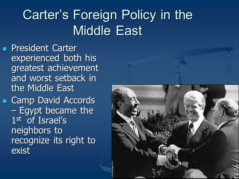Carter's Foreign Policy in the Middle East
