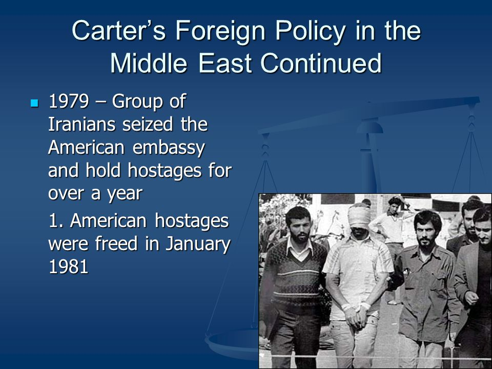 Carter's Foreign Policy in the Middle East Continued