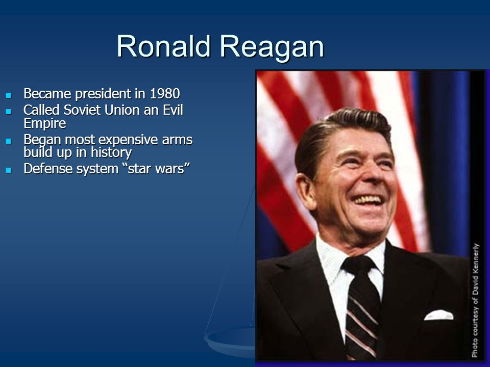 Ronald Reagan Became president in 1980
