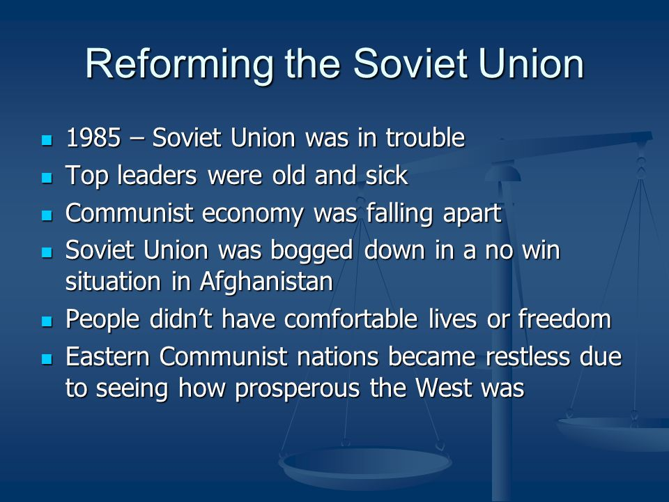 Reforming the Soviet Union