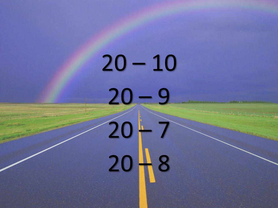 20 – 10 20 – 9 20 – 7 20 – 8