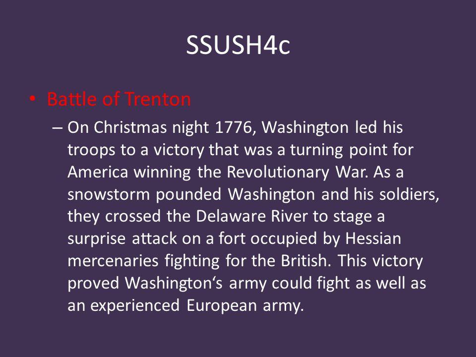 SSUSH4c Battle of Trenton