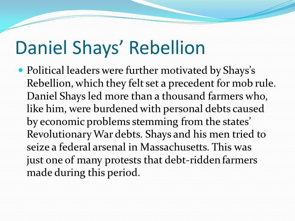 Daniel Shays' Rebellion