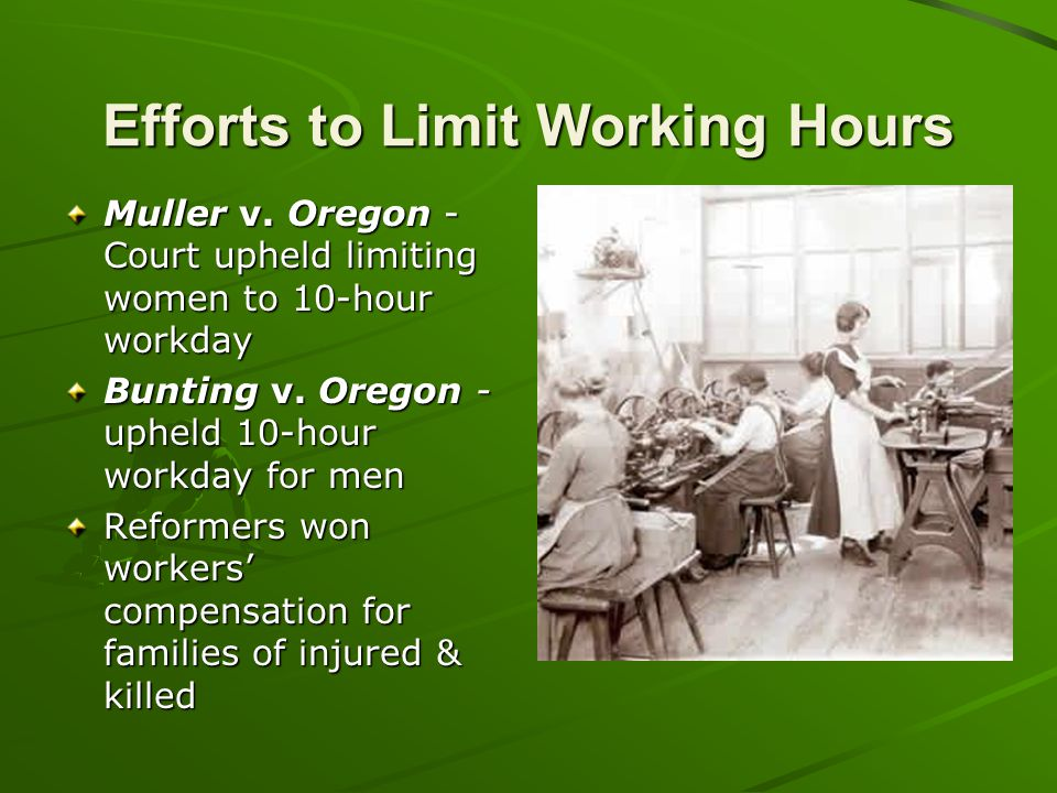 Efforts to Limit Working Hours