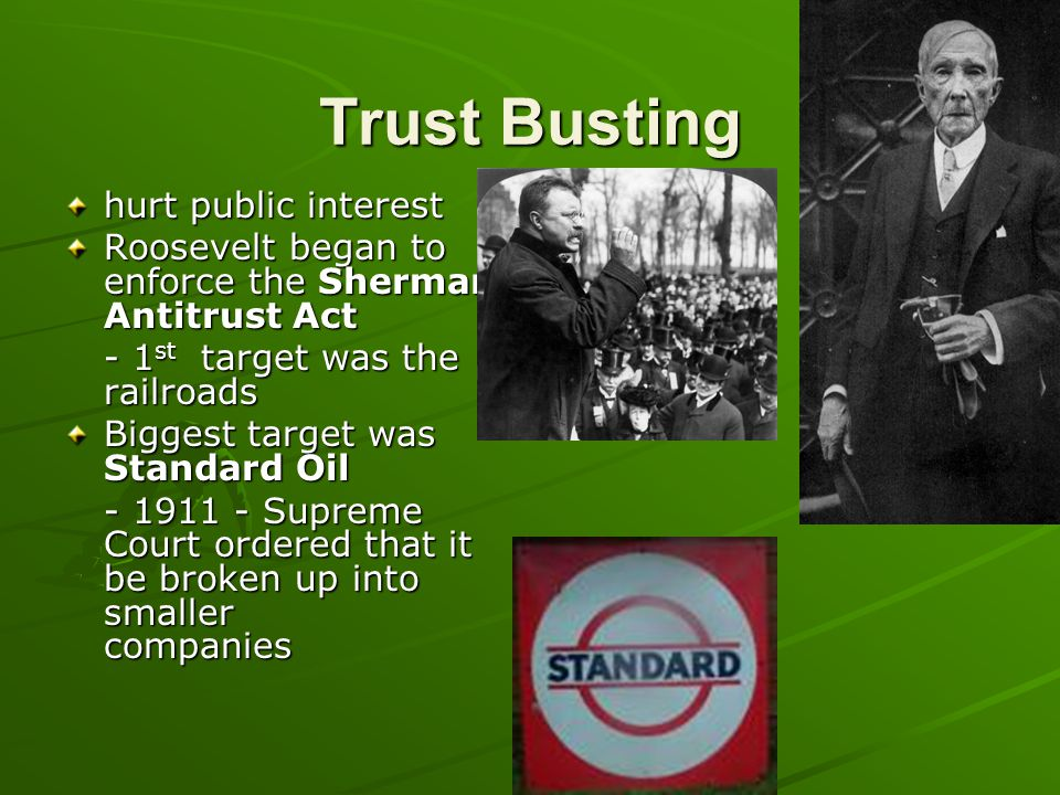 Trust Busting hurt public interest