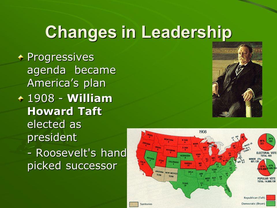 Changes in Leadership Progressives agenda became America's plan
