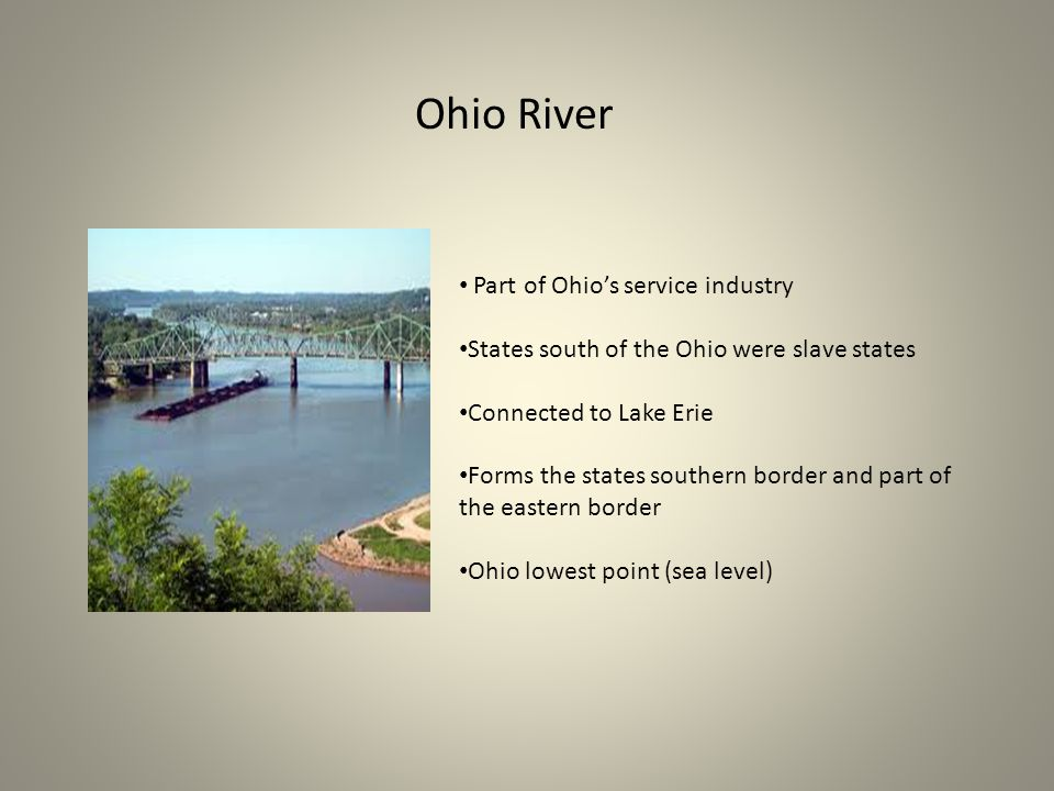 Ohio River Part of Ohio's service industry
