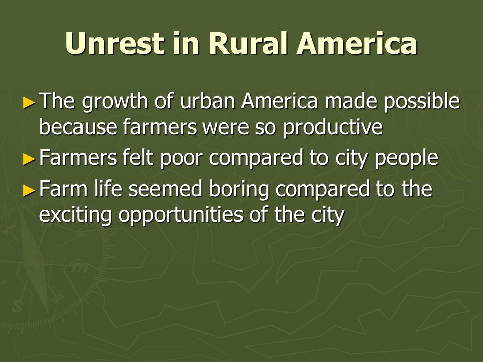 Unrest in Rural America