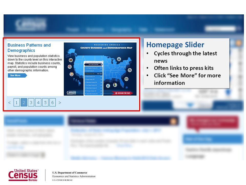 Homepage Slider Cycles through the latest news